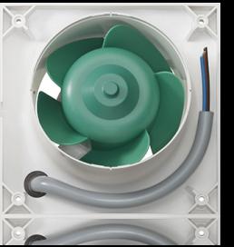 Ventilátor do koupelny a na wc Helios MiniVent M1 - zadní pohled